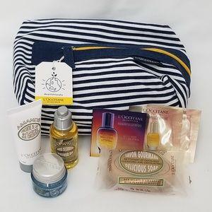 LOccitane Travel Set with canvas cosmetic case